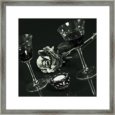Wine For Two Framed Print by Joana Kruse