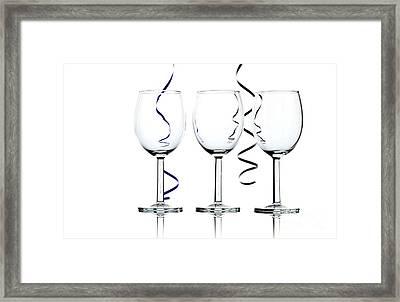 Wine Glasses Framed Print by Blink Images