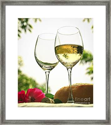 Wine Glasses Framed Print by Elena Elisseeva