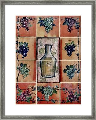 Wine Grape Mural Framed Print by Andrew Drozdowicz