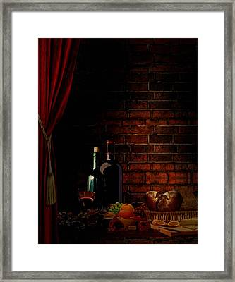 Wine Lifestyle Framed Print by Lourry Legarde