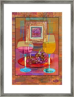 Wine Framed Print by Mary Ogle