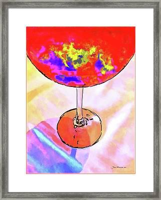 Wine Perpective Framed Print by Joan  Minchak