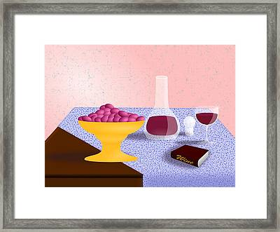 Wine Still Life Framed Print by Hyrum Hammon