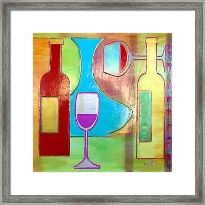 Wine Tasting Framed Print by Char Swift