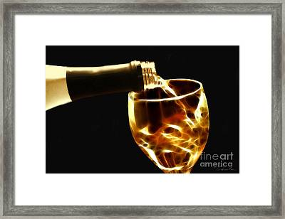 Wine Tasting Framed Print by Danuta Bennett
