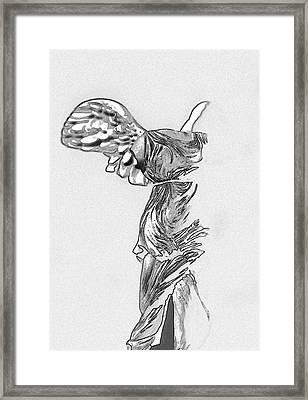 Winged Victory Of Samothrace Framed Print by Manolis Tsantakis