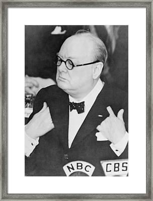 Winston Churchill 1874-1965 Framed Print by Everett