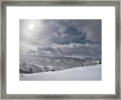 Winter Adventure Framed Print by Leland D Howard