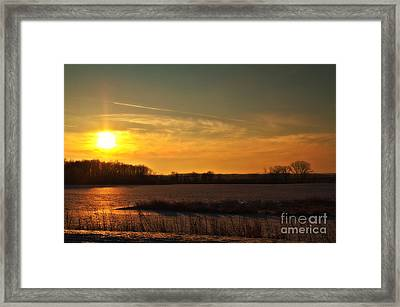 Winter Country Sunset Framed Print by Joel Witmeyer