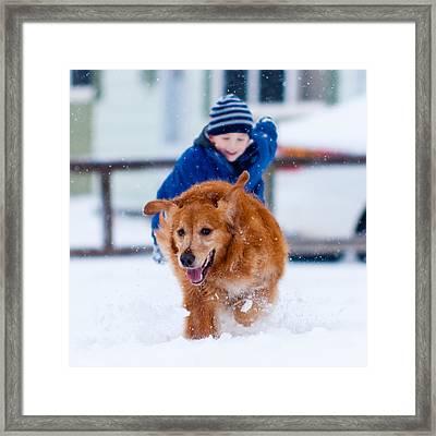 Winter Fun Framed Print by Matt Dobson