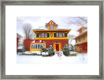 Winter In Ditmas Park Framed Print by Mark Gilman