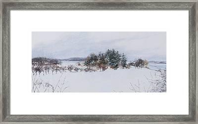 Winter In Ipswich Ma Framed Print by Sandy Spring