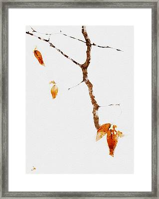 Winter Interludes Framed Print by Ron Jones