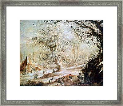 'winter Landscape', 17th Century, Painting Framed Print by Photos.com