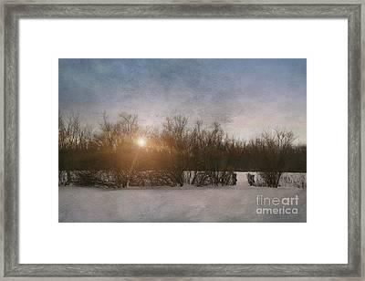 Winter Landscape  Framed Print by Sandra Cunningham