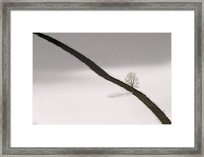 Winter Landscape With Danube River Framed Print by Norbert Rosing