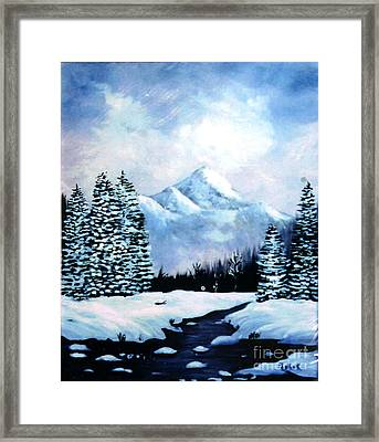 Winter Mountains Framed Print by Phyllis Kaltenbach