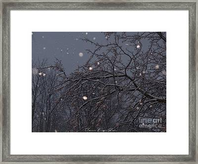 Winter Night Framed Print by Sacred  Muse
