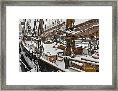 Winter On Deck Framed Print by Heiko Koehrer-Wagner