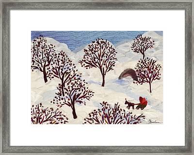 Winter Ride Framed Print by Marina Gershman