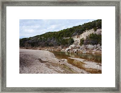 Winter River Framed Print by Lisa Holmgreen