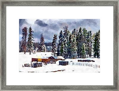 Winter Seclusion Framed Print by Jeff Kolker