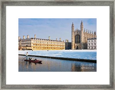 Winter Snow At Kings Framed Print by Andrew  Michael