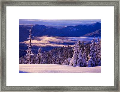 Winter Snow, Cascade Range, Oregon, Usa Framed Print by Craig Tuttle