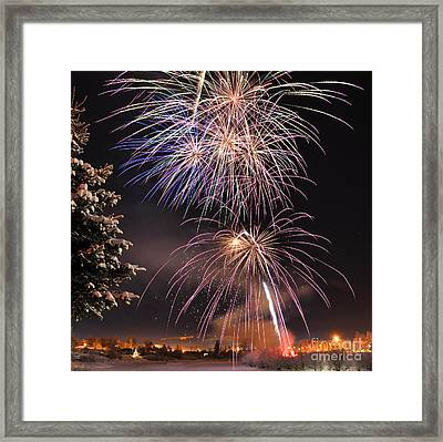 Winter Solstice Fireworks Framed Print by Gary Whitton