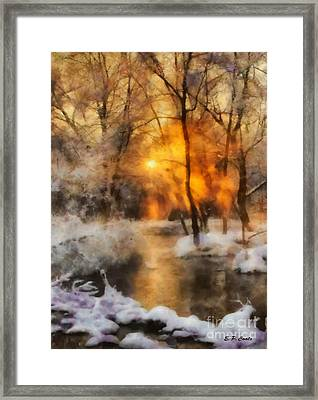 Winter Sunset Framed Print by Elizabeth Coats