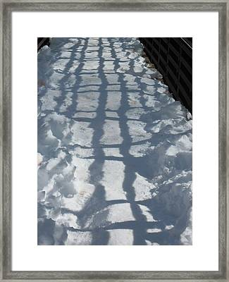Winter Weave Framed Print by Sandy Tracey