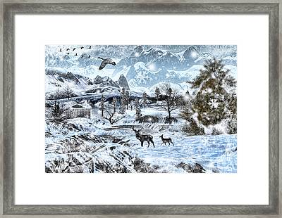 Winter Wonderland Framed Print by Lourry Legarde