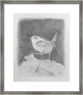 Winterkoning Wren Framed Print by Michael Zonneveld