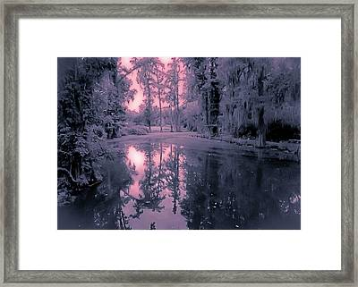 Winterland In The Swamp Framed Print by DigiArt Diaries by Vicky B Fuller