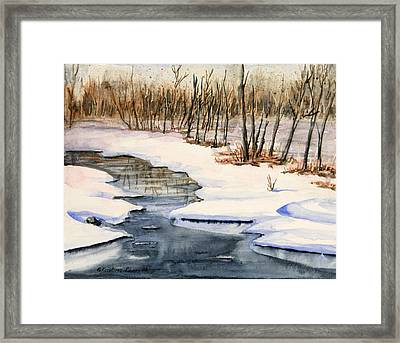 Winters Delight Framed Print by Kristine Plum