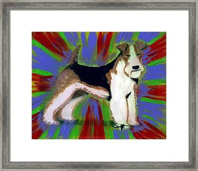 Wire Fox Terrier Framed Print by Char Swift