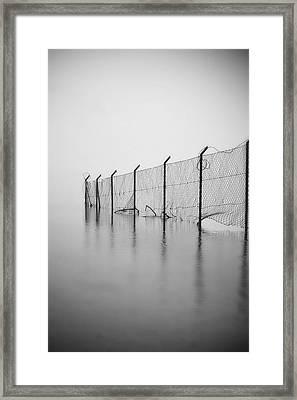 Wire Mesh Fence Framed Print by Joana Kruse