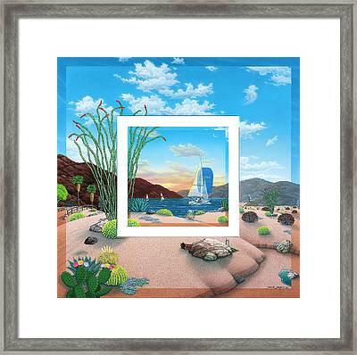 Wish You Were Here Framed Print by Snake Jagger