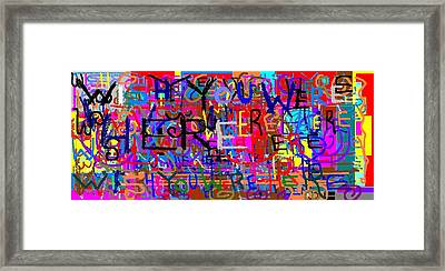 Wish Your Were Here 2 Framed Print by Jerry Conner