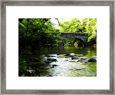 Wissahickon Bridge Framed Print by Bill Cannon