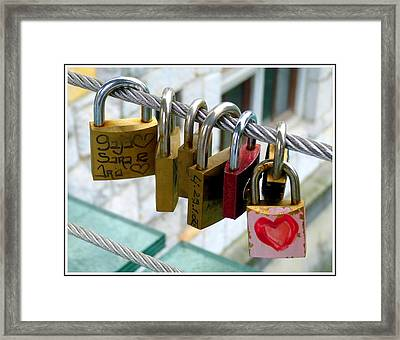 With All My Heart Framed Print by Carla Parris