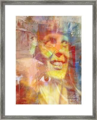 With Amelia's Shadow Framed Print by Fania Simon