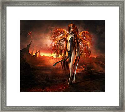 With Fire Framed Print by Amalia Iuliana Chitulescu