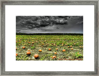 With Halloween Darkness Comes Framed Print by Timothy Hedges