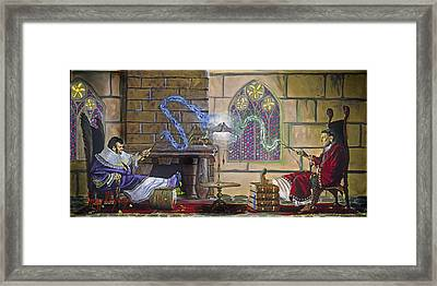 Wizards Duel Framed Print by Jeff Brimley