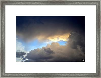 Wolf Clouds Framed Print by Diane montana Jansson