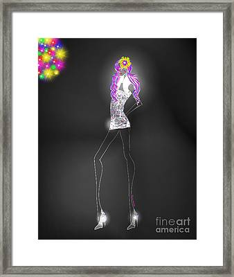 Woman 12 - Clubbin Framed Print by Cheryl Young