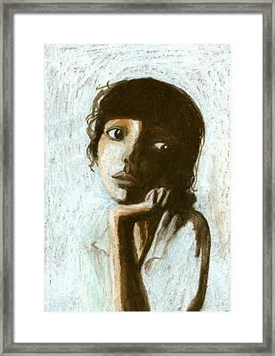 Woman Framed Print by Jenny Meilihove