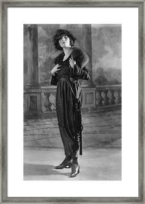 Woman Modeling Dress, A Frock Of Moon Framed Print by Everett